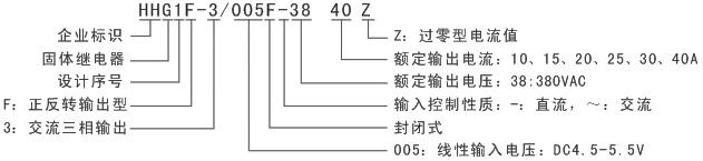 继电器-hhg1f-3/005f-38三相正反转固体继电器