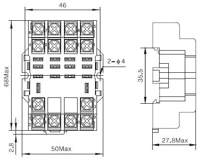 接线插座-欣灵继电器插座ptf14a 继电器底座ptf-14a 4