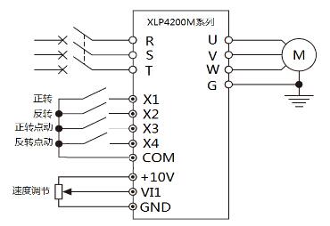 欣灵变频器接线示意图